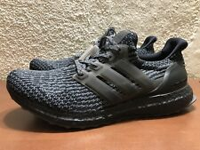 bb1e3bf92e795 adidas Ultra Boost 3.0 LTD Limited Triple Black Silver BA8923 Mens size 9  NEW