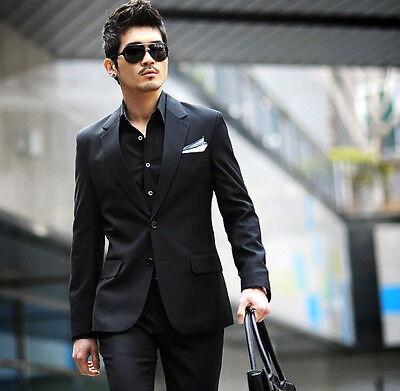 Formal Mens Suit Black Wedding Dress Suits Tuxedos Graduation Brand Jacket Pants