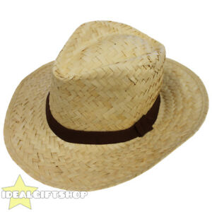 691b1dbb09c Image is loading PANAMA-NATURAL-PALM-STRAW-HAT-FANCY-DRESS-ACCESSORY-