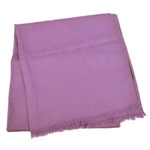 Authentic Gucci GG Silk Wool Large Scarf Shawl Wrap Purple Italy ... 7c714ee9b64
