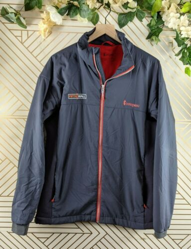 Cotopaxi Recycled Jacket Zip Up Navy Blue Pockets