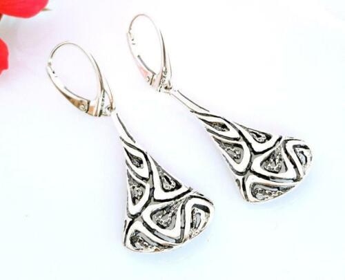 Damen Ohrhänger Silber 925 elegante /& schöne Ohrringe echt Sterlingsilber sm104