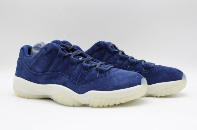 318f93277b7 Air Jordan Men's 11 XI Retro Low Jeter 'RE2PECT' Binary Blue Sail AV2187-