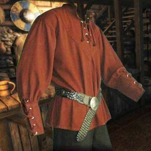 Medieval Shirt Classic Renaissance Landlord Top Men Cosplay Costume Multi