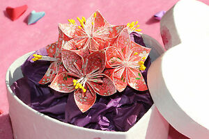 Gift Box With Bow And Paper Heart Of Origami Romantic Gift Stock ...   200x300