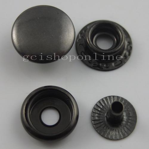 """10 25 50 100 Cuero rápida Remache Botón Snap Sujetadores 12mm 15mm 1//2/"""" 5//8/"""" Negro"""