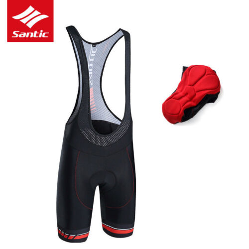PRO Men/'s Cycling Shorts MTB Road Bike Bib Short Bicycle Half Pants L-3XL Black