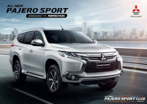 OUT SIDE TAIL GATE STAINLESS STEEL SCUFF PLATE FOR MITSUBISHI PAJERO SPORT 2015