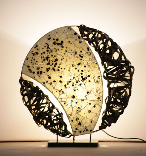 Tischleuchte Glas Mosaik Grau K Asiatische Leuchte Lampe Designerlampe Licht