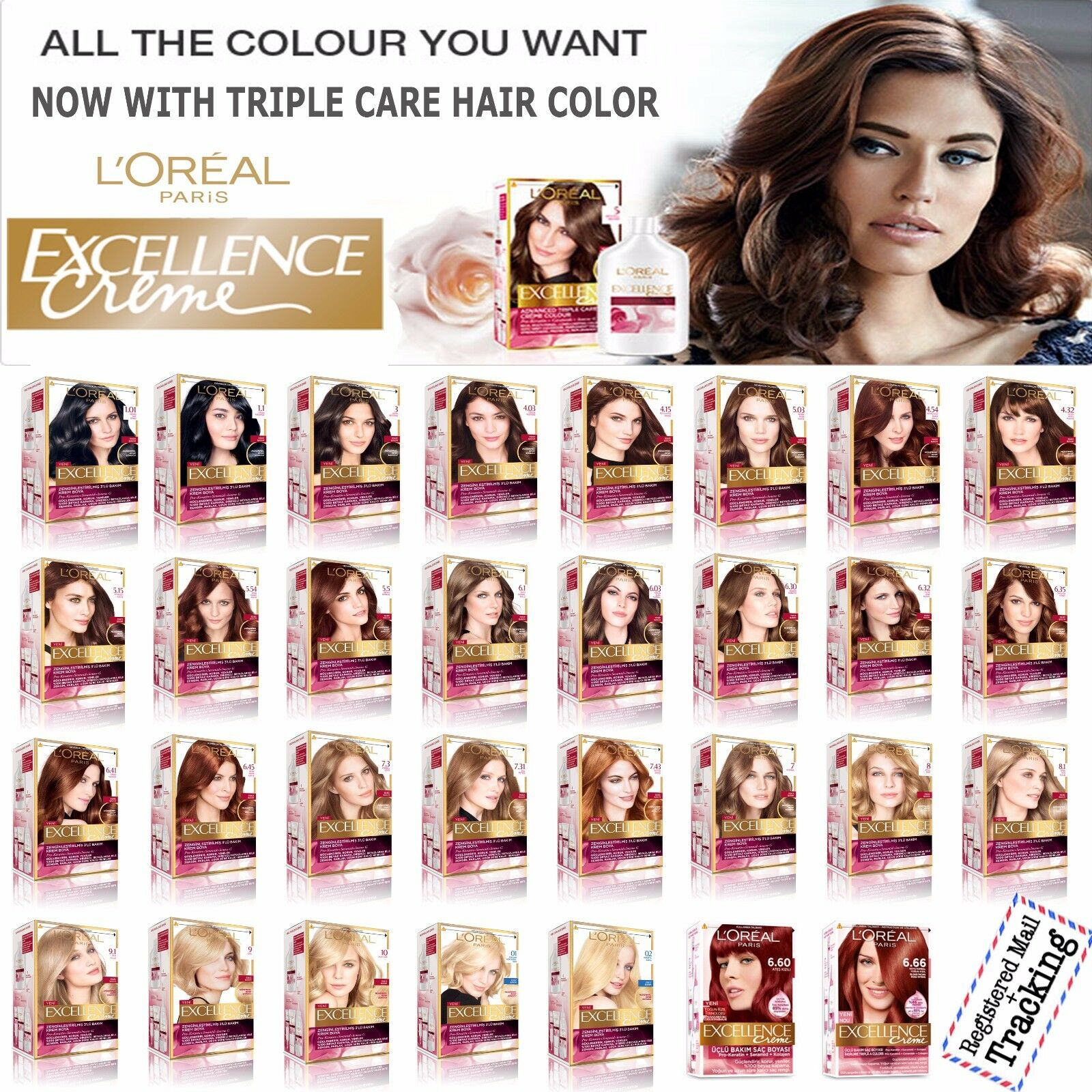 Loreal excellence creme haircolor color chart rachael edwards of l39oreal paris excellence creme triple care hair color 31 different sh geenschuldenfo Images