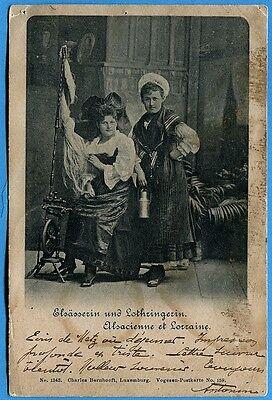 Praktisch Cpa: Elsässerin Und Lothringerin - Alsacienne Et Lorraine / 1900 Bekwame Productie