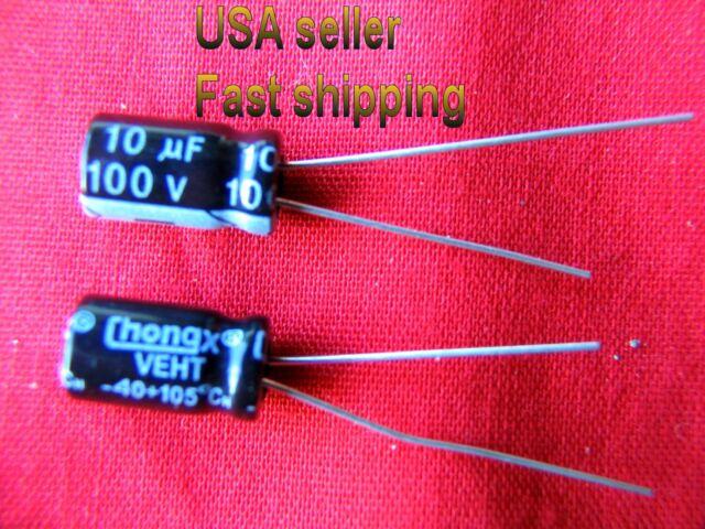 15 x 10uF 250V 105C Radial Electrolytic Capacitor 10x13mm USA Seller Free Ship