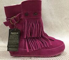 Sheepskin Fur Boots BEARPAW Girls Krystal Youth Suede Wool