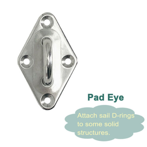 Sail Shade Steel Fixings Fittings Accessories For Use w Sun Shade Sail Canopy