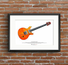Carlos Santana's PRS prototype guitar ART POSTER A3 size
