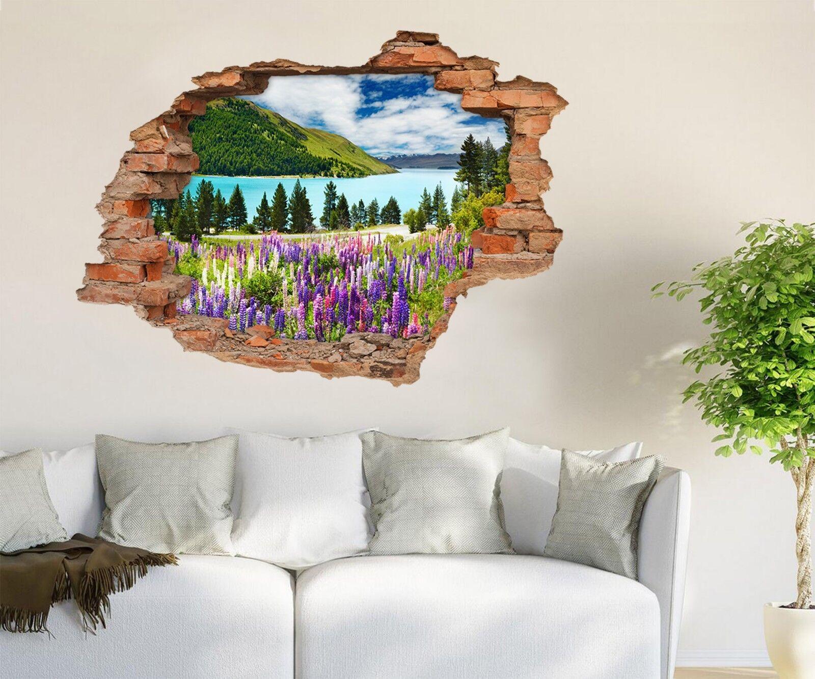 3D Fluss Blumen 328 Mauer Murals Mauer Aufklebe Decal Durchbruch AJ WALLPAPER DE
