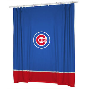 Image Is Loading Chicago Cubs Jersey Mesh Fabric Shower Curtain