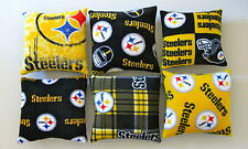 1-NFL PITTSBURGH STEELERS THROW PILLOW 12X12 CHOOSE FROM 6 PRINTED FLEECE PRINTS