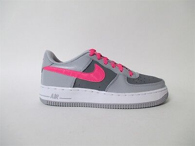 Nike Air Force 1 Low Wolf Grey Hyper Pink White GS Grade School 4.5 314219-013