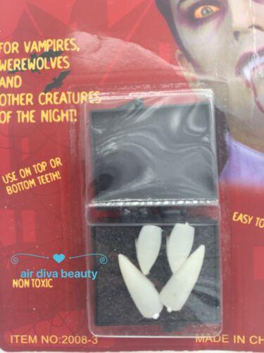 4PEICE Fright Halloween Costume Party Zombie Werewolf Vampire Fangs Teeth Cap
