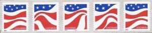US-Sello-2014-Banderas-Placa-Tira-de-5-Siempre-Sellos-Scott-4894-7