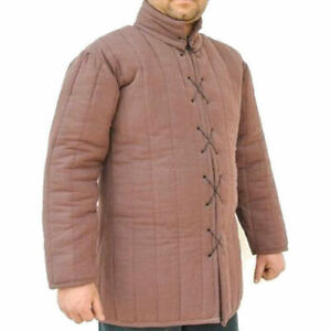 Medieval Gambeson knight armor VEST costumes dress Thick padded Jacket sca