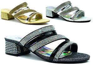 Women-Peep-Toe-Ladies-Strappy-Ankle-Strap-Low-Mid-Block-Heel-Party-Sandals-3-8