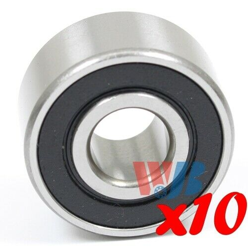 Set of 10 Ball Bearing WJB W6201-2RS Cartridge Type w// 2 Rubber Seals 12x32x16mm