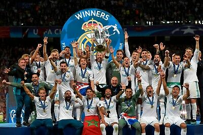 Poster A3 Real Madrid Ramos Modric Bale Marcelo Champions 2018 Decimotercera 03
