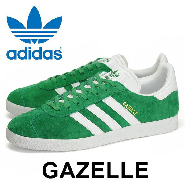 Adidas Originals Gazelle Green White gold Boston Celtics Irish Ireland 9 shoes