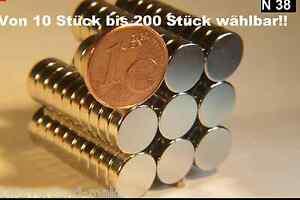 Magnete Supermagnete Haltemagnete Modellbau 8 x 1 mm Neodym N 38