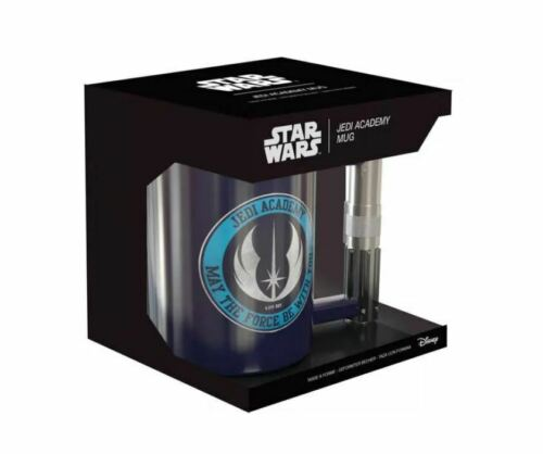 OFFICIAL STAR WARS JEDI ACADEMY LIGHTSABRE HANDLE 3D COFFEE MUG CUP IN GIFT BOX