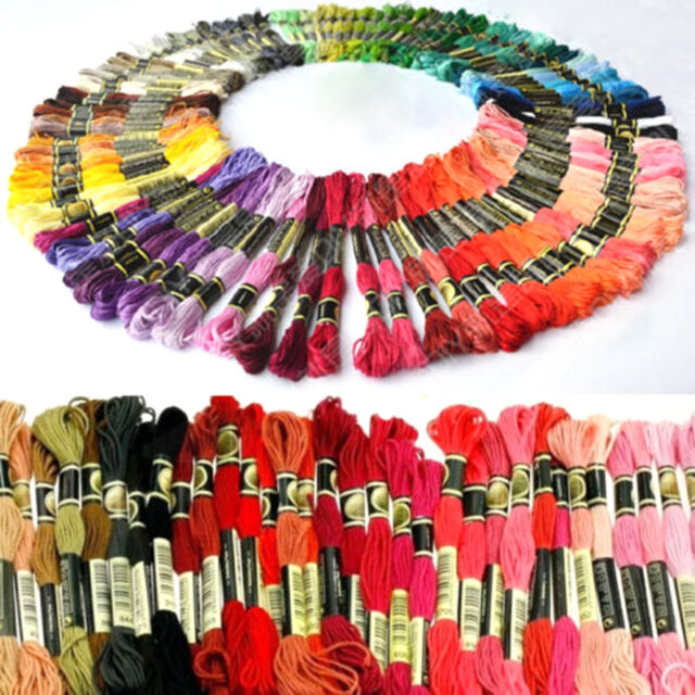 Lots 50 Multi Color Cotton Cross Floss Stitch Thread Embroidery Sewing Skeins