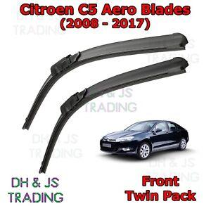 "Citroen C5 2008 Onwards Front Windscreen Wiper Blades 28/"" 22/"""