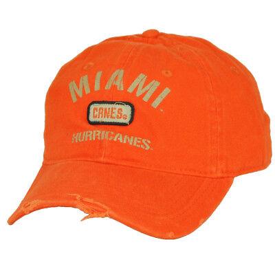 Sport Baseball & Softball Niedrigerer Preis Mit Ncaa Miami Hurricanes Zuckerstangen Distressed Orange Mütze Einstellbarer Locker