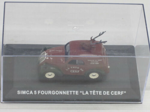"Simca 5 Fourgonnette in braun//grün /""La Tete de Cerf/"" IXO ohne OVP 1:43"
