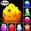 Bath-Toys-8-Pcs-Light-Up-Floating-Rubber-animal-Toys-set-Flashing-Color-Light thumbnail 1