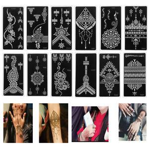 Tattoo-Stencils-DIY-Body-Art-Temporary-Hand-Decal-Henna-Template-Sticker