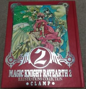 Rayearth Magic Knight Illustrations Collection Japanese Artbook Book Japan Clamp