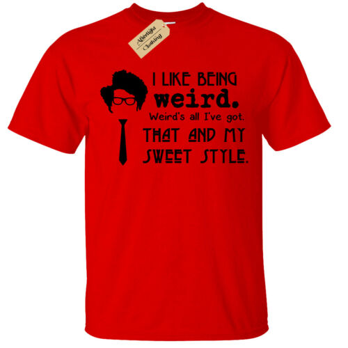 Kids Boys Girls I Like Being Weird T-Shirt Funny it Moss quote crowd