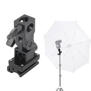 B-Type-Hot-Shoe-Flash-Umbrella-Holder-Swivel-Light-Stand-Bracket-For-Camera-SU