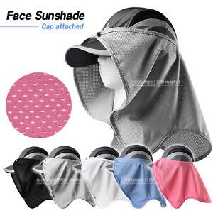 Sun Shade Block UV Protect Sunlight Cover Face Attach Hat Outdoor ... 9b63401b4b5