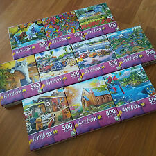 ARTBOX by Lafayette Puzzle Factory - Lot of 10 Mini-Jigsaw Puzzles 500 pcs each