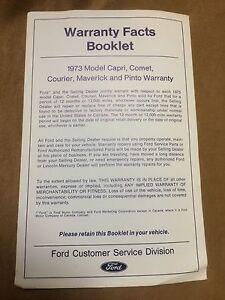 1973-Ford-Courier-Maverick-Pinto-amp-Mercury-Capri-Comet-Warranty-Facts-Booklet