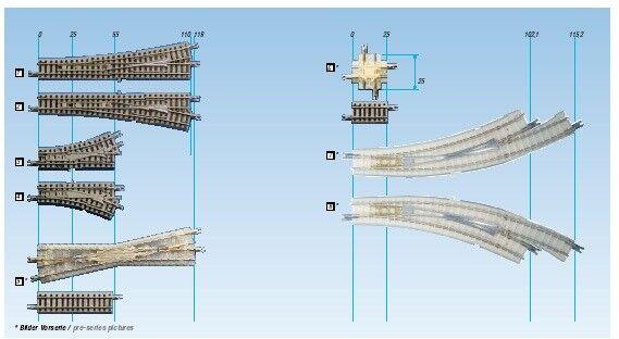Ancora 97058 Rokuhan Traccia Z Arco Morbida re. r195/220-30  , + Binario INDIR r195-30