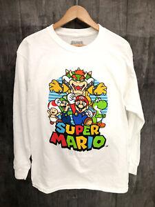 New-Super-Mario-XL-Long-Sleeve-Shirt-featuring-Mario-Bowser-Yoshi-Luigi-amp-Toad