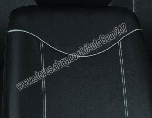 Black Grey Stitching Air Bag Friendly 5 Headrests,Split Rear,Car Seat Covers Set