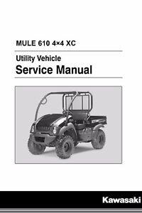 kawasaki mule 610 4x4 kaf400 2010 2011 2012 2013 2014 2015 2016 rh ebay com Kawasaki Mule Wiring-Diagram Blueprints Kawasaki Mule Wiring-Diagram Blueprints