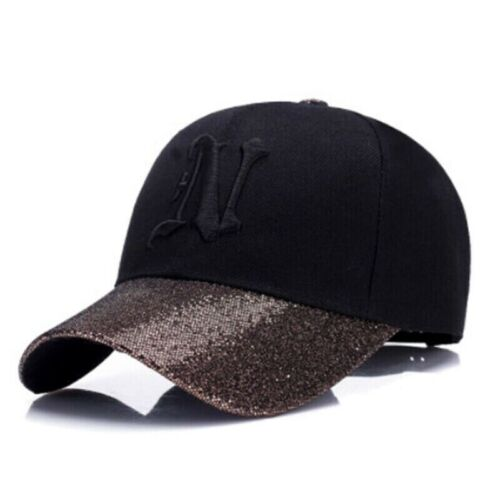 Snapback Baseball Cap For Women Pink Black Silver Golden Ladies Bling Hat Gorras