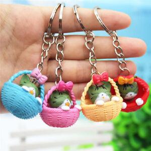 Cartoon-Basket-Cat-Keychain-Pendant-Keyring-Gift-Bag-Purse-Key-Chain-JewelryLJ
